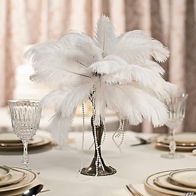 Feather Centerpiece Idea