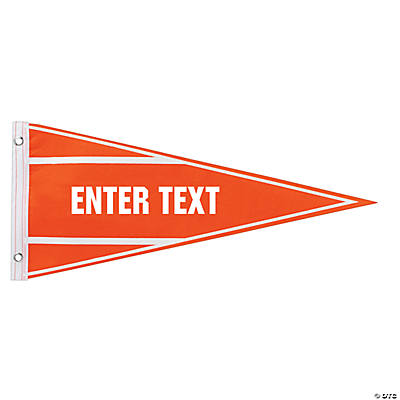 Felt Orange Personalized Pennant Banner