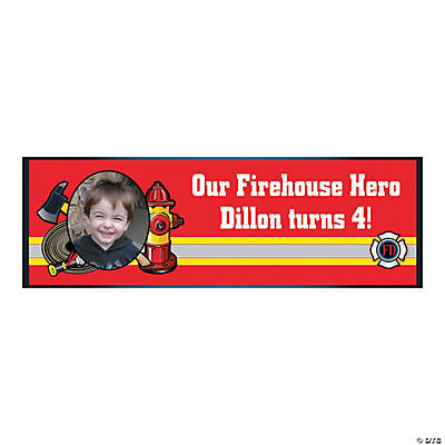 Firefighter Party Photo Custom Banner - Small Image Thumbnail
