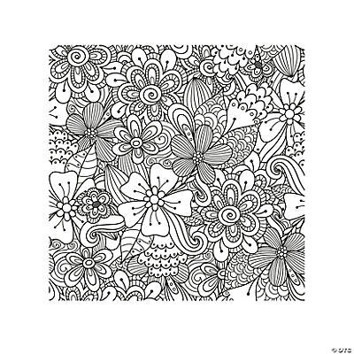 Floral Adult Coloring Page Free Printable Oriental Trading
