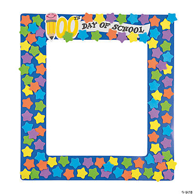 Foam 100th Day of School Picture Frame Craft Kit