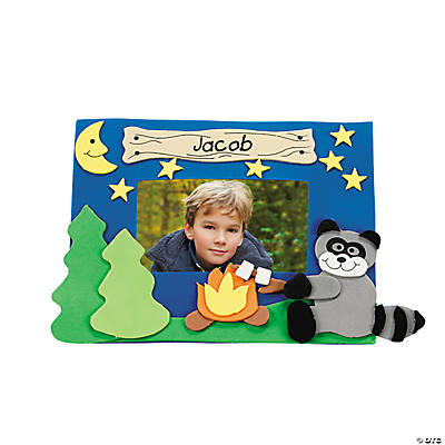 Foam Camp Raccoon Picture Frame Magnet Craft Kit