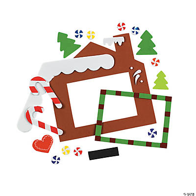 Foam Gingerbread House Picture Frame Magnet Craft Kit
