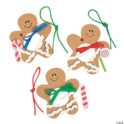 Foam Gingerbread Man Picture Frame Christmas Ornament Craft Kit