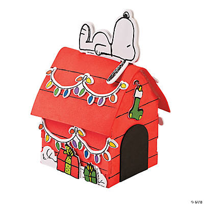 foam peanuts 3d snoopys christmas dog house craft kit - Snoopy House Christmas