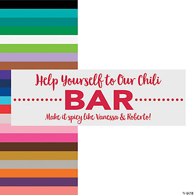 Food or Drink Bar Wedding Custom Banner - Small Image Thumbnail
