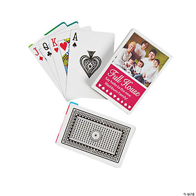Full House Playing Cards with Custom Photo Box