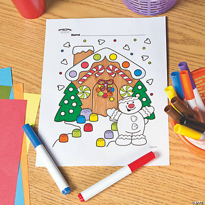 Gingerbread House Free Printable Coloring Page