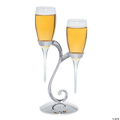 Glass Baseless Personalized Champagne Flutes