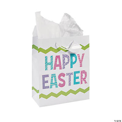 Happy easter gift bags glitter happy easter gift bags negle Images