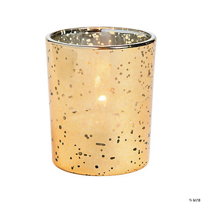 Gold-Flecked Mercury Votive Holders - Oriental Trading