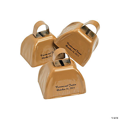 Gold Personalized Cowbells