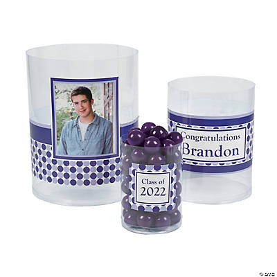 Graduation Custom Photo Cylinder Candy Buckets Image Thumbnail