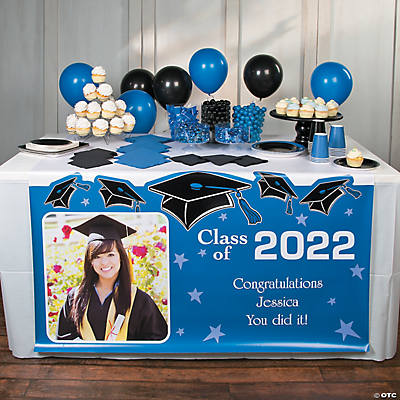 Graduation Custom Photo Plastic Table Runner Image Thumbnail