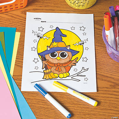Halloween Owl Free Printable Coloring Page Oriental Trading