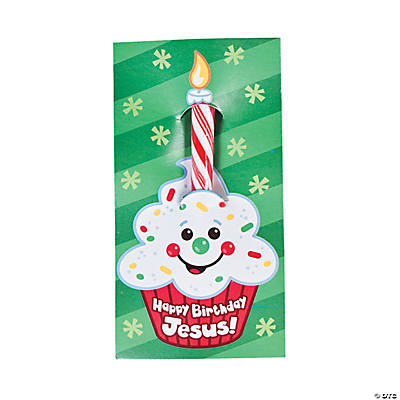 Happy Birthday Jesus Candy Canes On Card