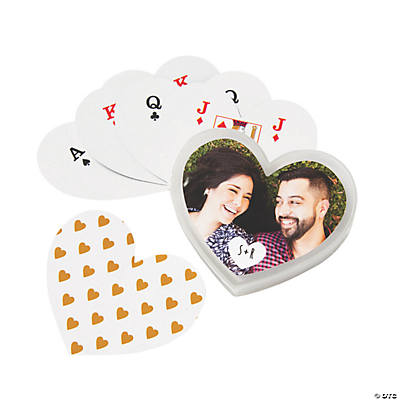 Heart-Shaped Playing Cards with Custom Photo Box Image Thumbnail