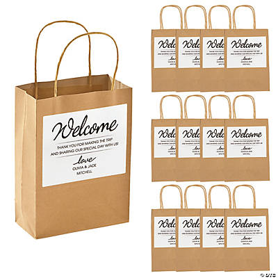 Hotel Welcome Bags with Personalized Favor Stickers Image Thumbnail
