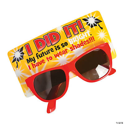 a7aa9fc8a5b6 I Did It Graduation Sunglasses with Card
