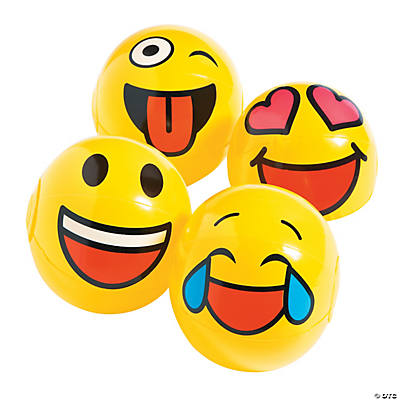 Inflatable Mini Emoji Beach Balls