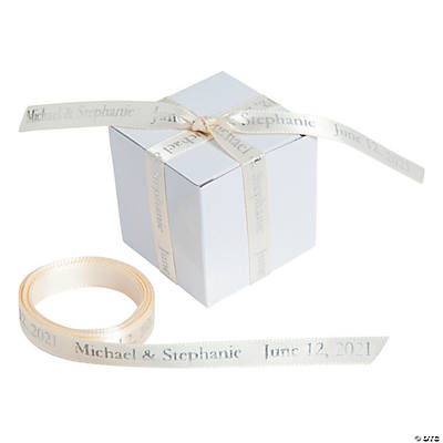 "Ivory Personalized Ribbon - 3/8"" Image Thumbnail"