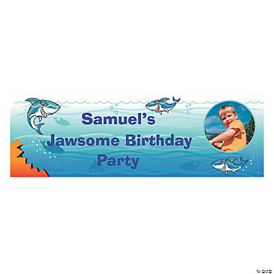 Jawsome Shark Party Photo Custom Banner - Small Image Thumbnail