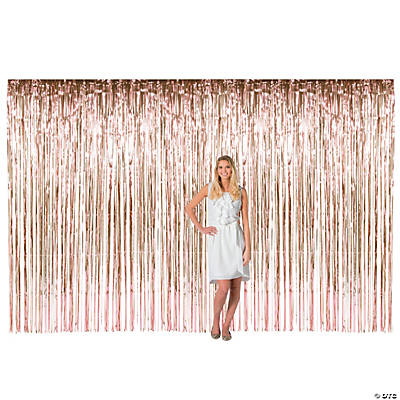 Large Rose Gold Foil Fringe Door Curtain