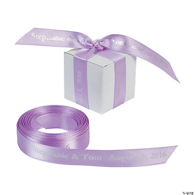 "Lavender Personalized Ribbon - 5/8"" Image Thumbnail"