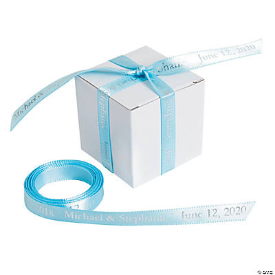 "Light Blue Personalized Ribbon - 3/8"" Image Thumbnail"