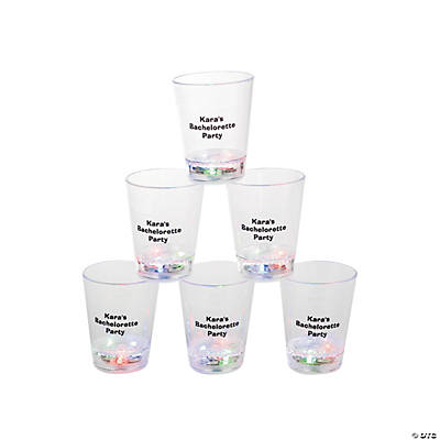 Light-Up Personalized Plastic Shot Glasses