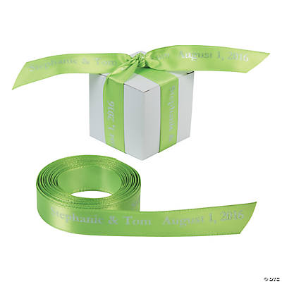 "Lime Green Personalized Ribbon - 5/8"" Image Thumbnail"