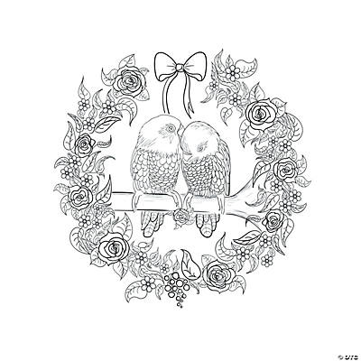 Love Birds Adult Coloring Page Free Printable