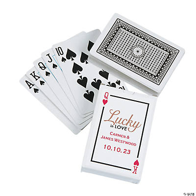Lucky in Love Playing Cards with Personalized Box Image Thumbnail