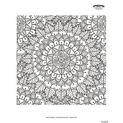Mandala Adult Coloring Page Free Printable Oriental Trading
