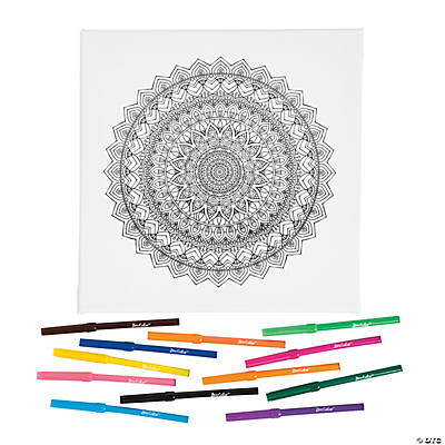 Mandala Coloring Canvas Kit
