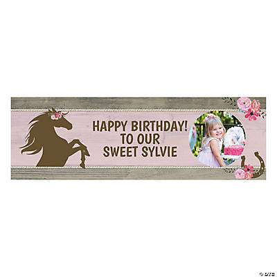 Mare & Foal Horse Party Photo Custom Banner - Medium Image Thumbnail