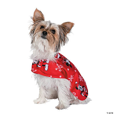 Christmas Pajamas For Dog.Mickey Mouse Christmas Dog Pajamas Xs