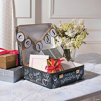 Wedding Card Box Ideas.Mini Suitcase Card Box Idea Oriental Trading
