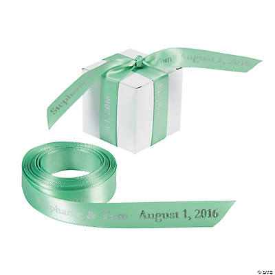 Mint Green Personalized Ribbon - 5/8""