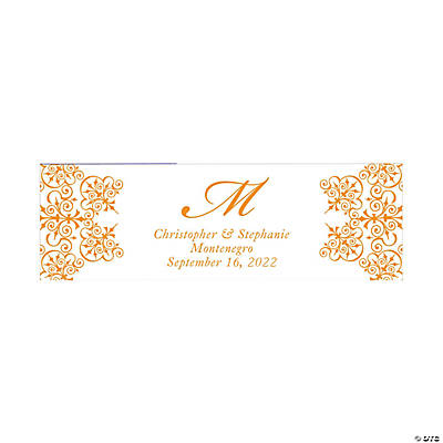 Monogram Script Wedding Custom Banner - Medium Image Thumbnail