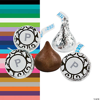 Monogrammed Scrollwork Hershey&#8217;s<sup>&#174;</sup> Kisses<sup>&#174;</sup> Stickers Image Thumbnail