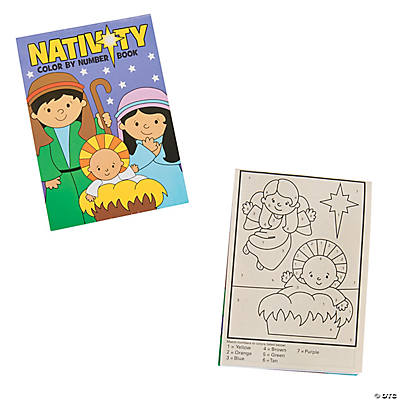 Nativity Color By Number Books