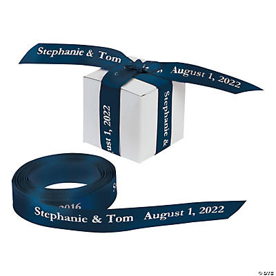 "Navy Personalized Ribbon - 5/8"" Image Thumbnail"