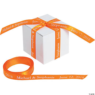 Orange Personalized Ribbon - 3/8""