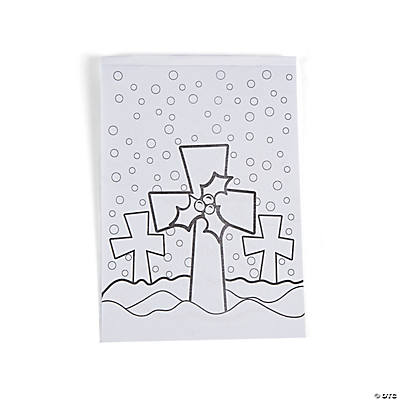 Paper Christmas Religious Coloring Books