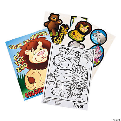Paper Color By Number Animal Coloring Books