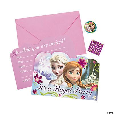 Paper Disney S Frozen Invitations