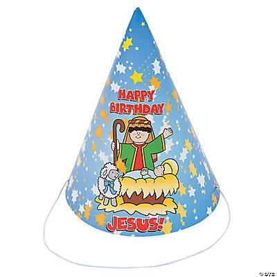 Paper Happy Birthday Jesus Party Hats