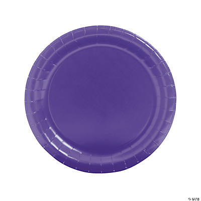 sc 1 st  Fun Express & Paper Round Purple Dinner Plates