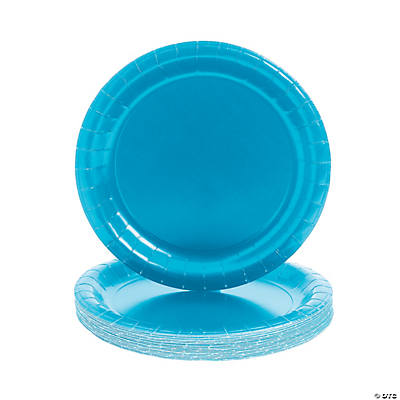 Paper Round Turquoise Dinner Plates  sc 1 st  Fun Express & Round Turquoise Dinner Plates